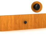 "Rendering of Creative Wood's ""H"" furniture knob"