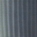 Sample of perforated aluminum material option for Creative Wood office furniture