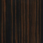 Sample of Creative Wood's Reconstituted Macassar Ebony premium furniture veneer