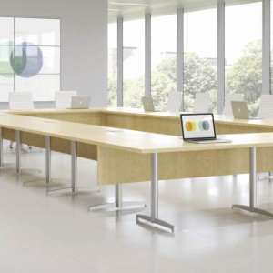 Foldable training table rendering by Creative Wood