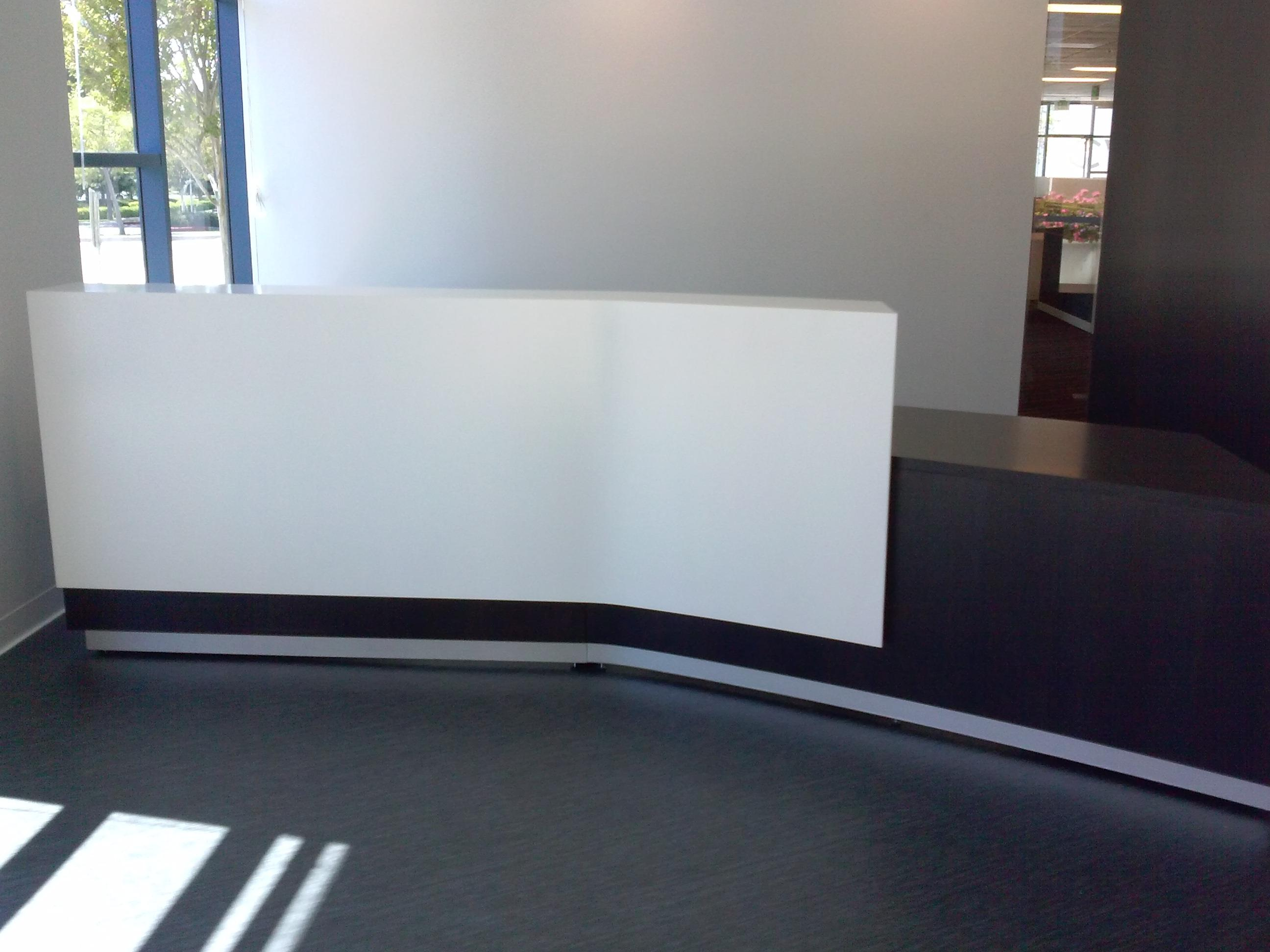 Angled Black White Reception Desk 2 Jpg
