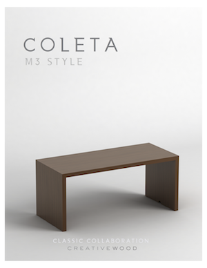 Cover of Spec Sheet for Coleta by Creative Wood