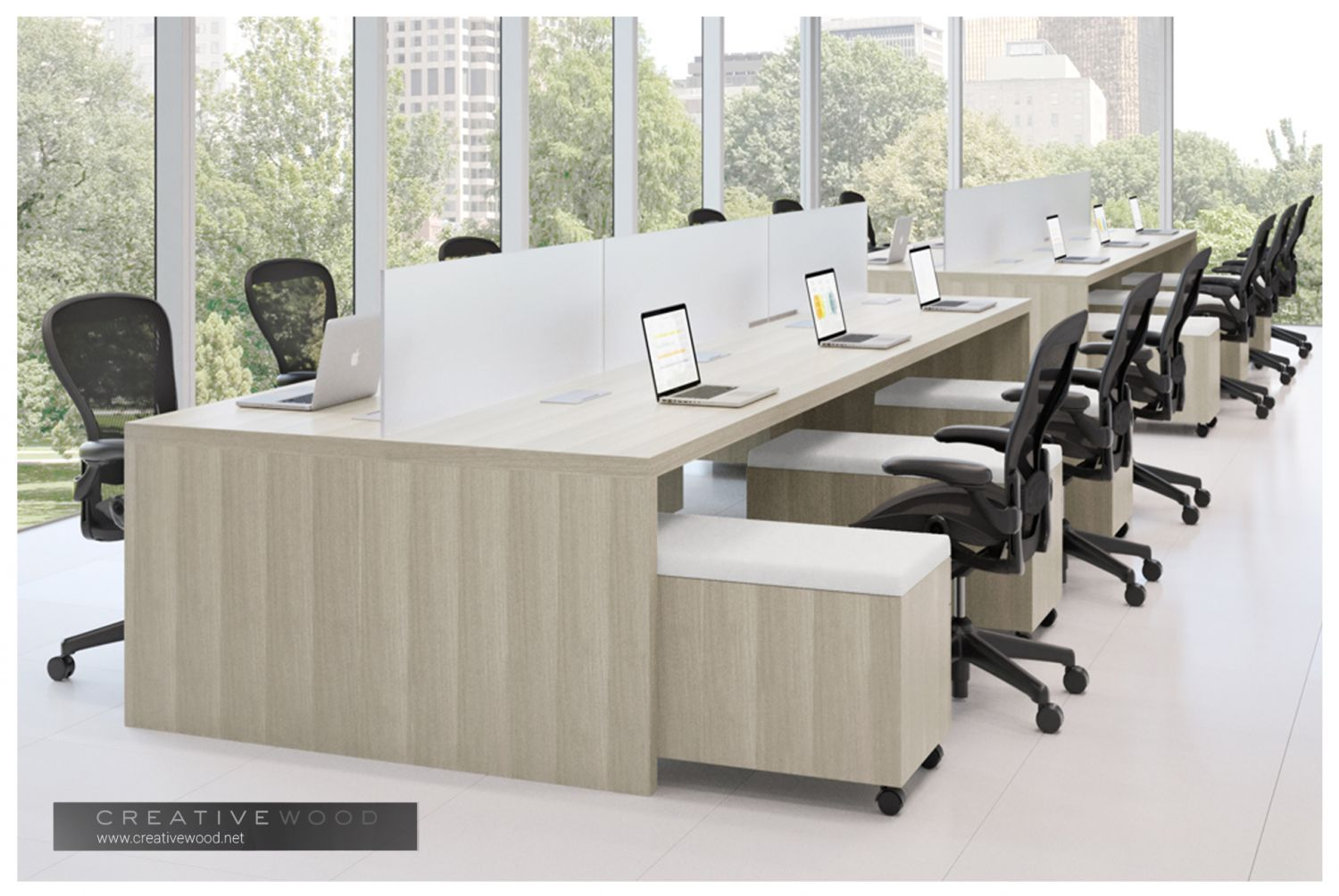 Glass Desk Dividers Design Ideas Zip Creative Wood